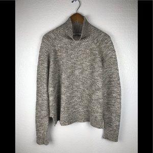 Madewell Knit Turtleneck Beige Sweater